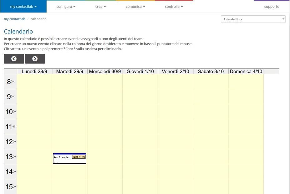 Esempio Calendario Affidamento Condiviso.Contactlab Marketing Cloud