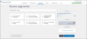 Crea segmenti per inviare spedizioni in una lingua specifica, alle persone registrate presso un determinato store