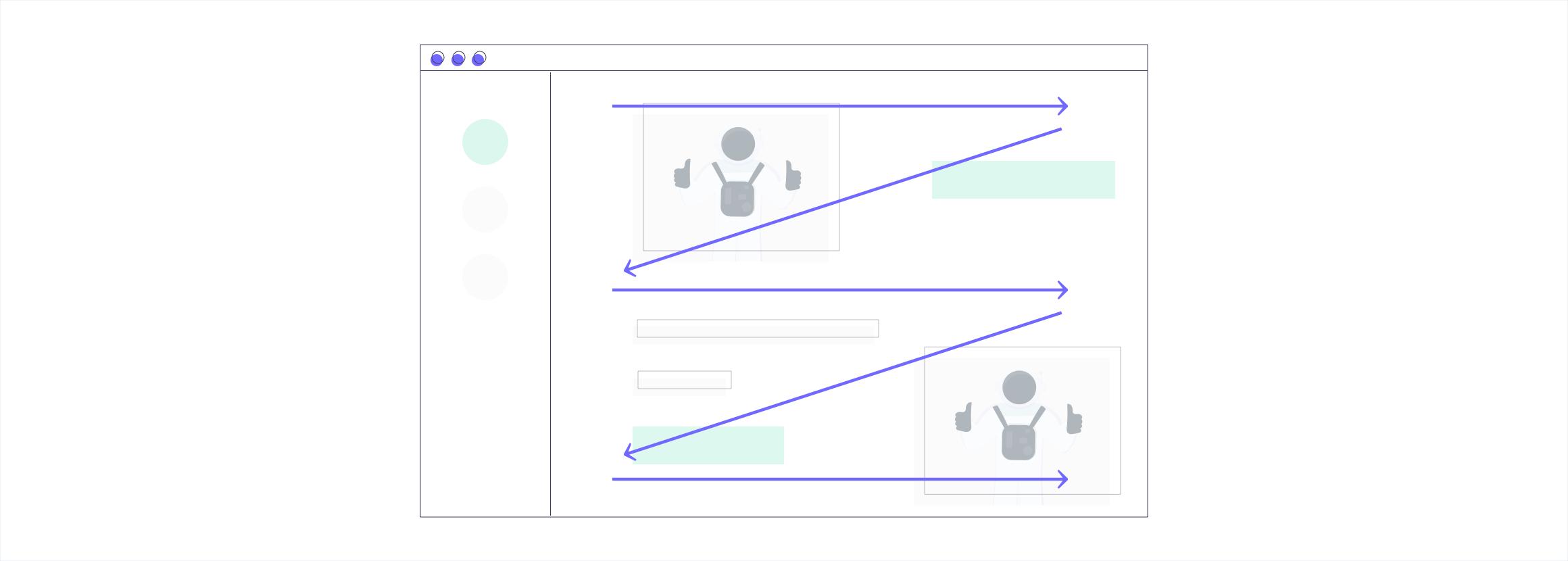 UI/UX #5: zig-zag-shaped layout